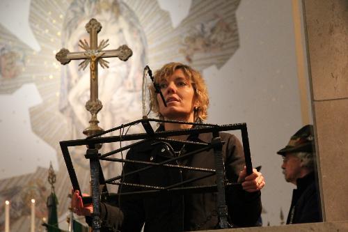 L'assessore Zilli interviene nel Sacrario di Cargnacco