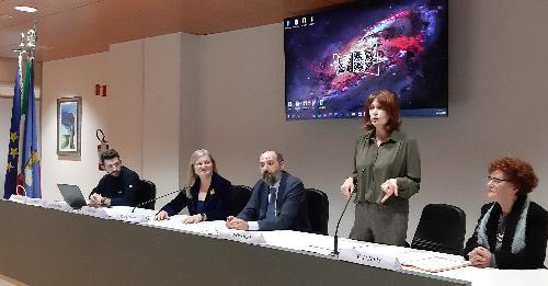 L'assessore regionale al Lavoro e formazione, Alessia Rosolen, durante la presentazione del progetto E-Edu4.0 - Udine, 28 gennaio 2020.