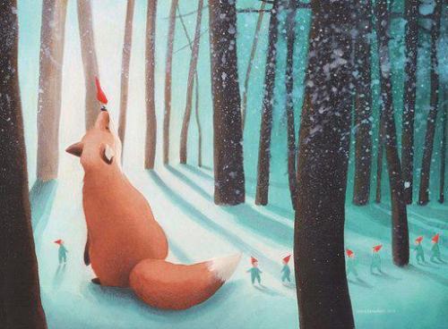 Una delle illustrazioni create da Vesna Benedetic.