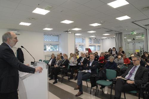 Il vicegovernatore del Friuli Venezia Giulia con delega alla Salute Riccardo Riccardi a Trieste, alla presentazione del progetto dedicato alla sperimentazione di nuovi modelli organizzativi integrati per la per la prevenzione e il controllo delle infezioni sessualmente trasmesse (Ist).