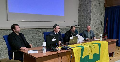 L'assessore alle Risorse agroalimentari Stefano Zannier (secondo da sinistra nella foto)
