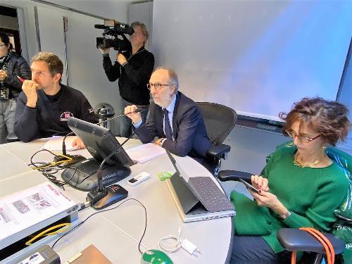 Il vicegovernatore Riccardo Riccardi durante collegamento con il Tavolo del dipartimento nazionale della Protezione civile