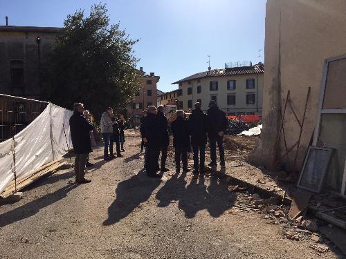 Il sopralluogo al cantiere della Asp La Quiete a Udine