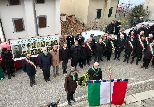 Il governatore del Friuli Venezia Giulia in occasione della commemorazione del 75° anniversario dell'eccidio delle Malghe di Porzus a Canebola.