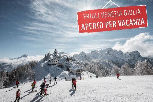 """Un'immagine della campagna """"Fvg aperto per vacanza"""" lanciata da PromoTurismoFVG"""
