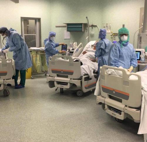 Il reparto dell'Unità operativa di terapia subintensiva di pneumologia dell'Ospedale di Pordenone