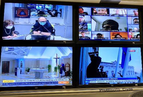 Il vicegovernatore del Friuli Venezia Giulia con delega alla Salute e alla Protezione civile, Riccardo Riccardi, in videoconferenza