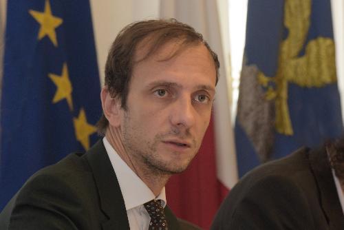 Il governatore del Friuli Venezia Giulia Massimiliano Fedriga, in una foto d'archivio