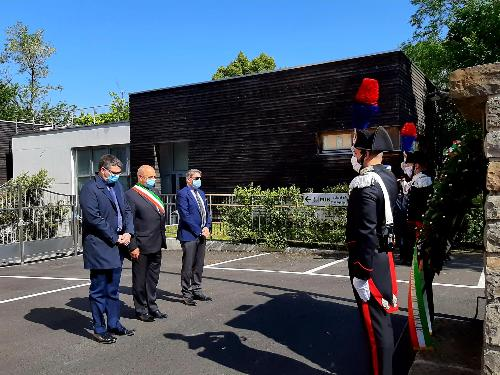 L'assessore regionale alla Sicurezza Pierpaolo Roberti alla cerimonia per il Giorno della memoria dedicato alle vittime del terrorismo interno e internazionale e delle stragi a Trieste