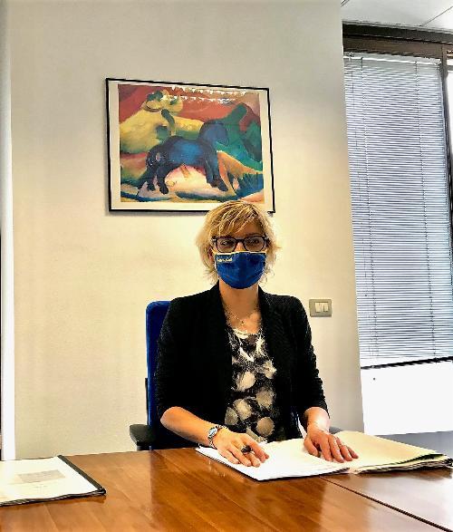 L'assessore alle Finanze del Fvg, Barbara Zilli, all'assemblea dei soci di Ucit srl.