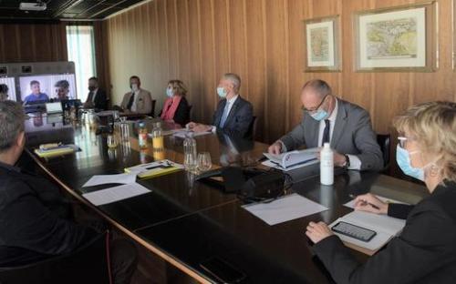 L'assessore alle Finanze del Friuli Venezia Giulia, Barbara Zilli durante l'assemblea di Insiel