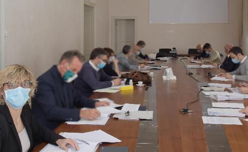L'assessore alle Finanze del Friuli Venezia Giulia, Barbara Zilli in Giunta regionale