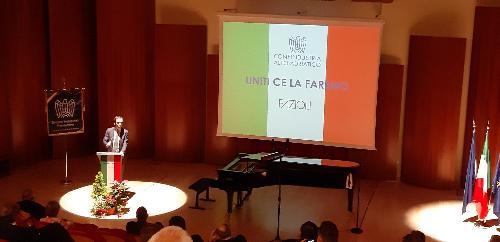 Fedriga a Sacile per il concerto del pianista Maurizio Baglini, promosso da Confindustria Alto Adriatico nella Fazioli Concert Hall di Sacile.