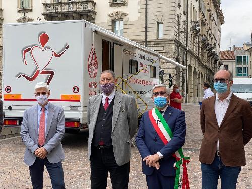 Il vicegovernatore con delega alla Salute Riccardo Riccardi alla cerimonia a Udine in occasione della Giornata del donatore