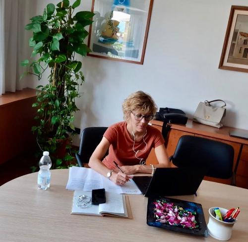 L'assessore regionale Barbara Zilli in videoconferenza all'assemblea Ditedi