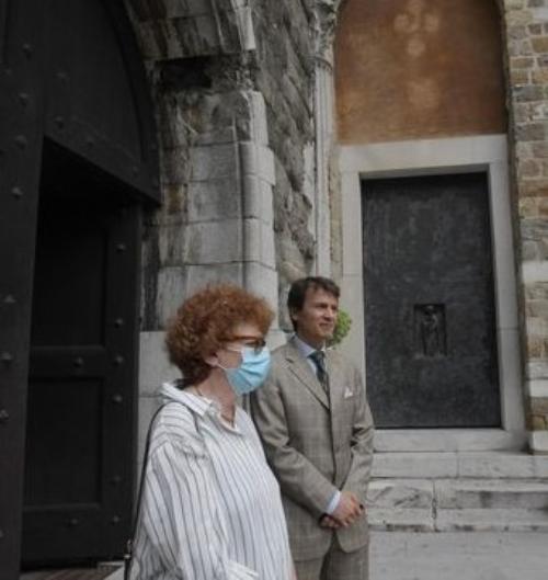 Tiziana Gibelli, assessore regionale alla Cultura e Francesco Granbassi, presidente del Rotary Club Trieste