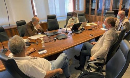 Il vicegovernatore del Friuli Venezia Giulia con delega alla Salute e alla Protezione civile, Riccardo Riccardi durante l'incontro con i rappresentanti dei pediatri del FVG