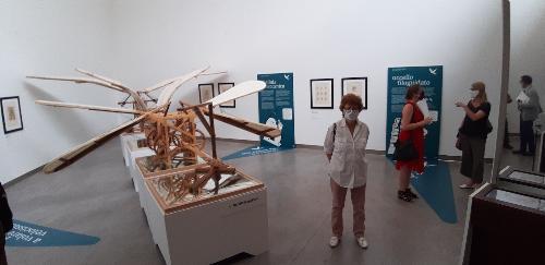 """L'assessore regionale alla Cultura Tiziana Gibelli a Pordenone all'inaugurazione dell'esposizione """"il Mondo di Leonardo: codici interattivi, macchine, disegni"""""""