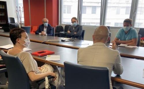 Il vicegovernatore del Friuli Venezia Giulia, Riccardo Riccardi, a sinistra nella foto