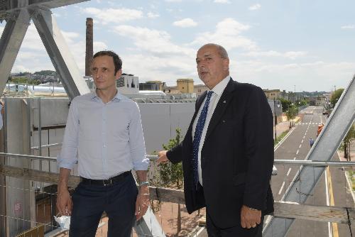 Il governatore del Friuli Venezia Giulia Massimiliano Fedriga con il sindaco di Trieste Roberto Dipiazza