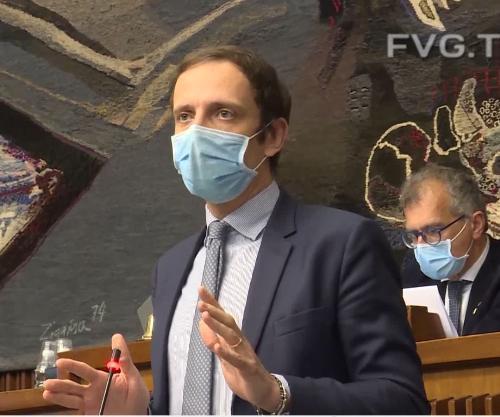 Il governatore del Friuli Venezia Giulia Massimiliano Fedriga