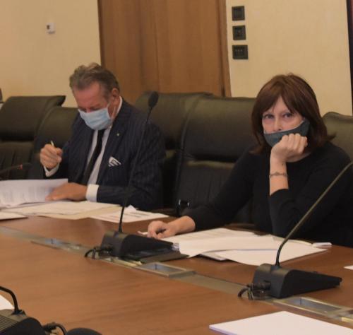 L'assessore regionale alla Famiglia, Alessia Rosolen, durante la seduta di Giunta regionale