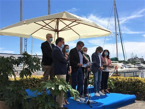 L'intervento del presidente dello Yacht Club di Aprilia Marittima Flavio Caramia
