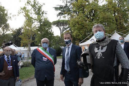 Il governatore Massimiliano Fedriga assieme al sindaco di Gorizia Rodolfo Ziberna