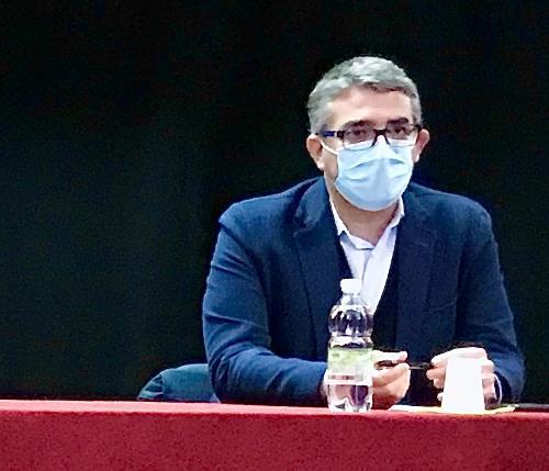 L'assessore alle Autonomie locali del Friuli Venezia Giulia, Pierpaolo Roberti, durante l'assemblea congressuale regionale dell'Unione nazionale comuni, comunità ed enti montani (Uncem) svolta a Pontebba.