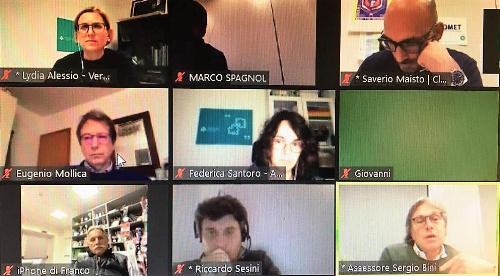 L'intervento dell'assessore regionale alle Attività produttive Sergio Emidio Bini alla conferenza online