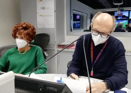 Il vicegovernatore del Friuli Venezia Giulia con delega alla Salute, Riccardo Riccardi, durante l'incontro in modalità telematica con i quattro presidenti degli Ordini delle professioni infermieristiche.