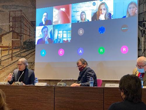 L'assessore regionale Sergio Emidio Bini interviene in Camera di commercio a Udine