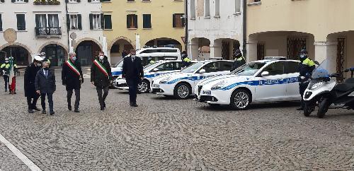 Le autorità presenti alla 12. giornata regionale della Polizia locale svoltasi a Pordenone