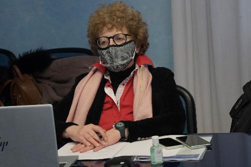 L'assessore regionale a Cultura e Sport, Tiziana Gibelli, durante la discussione in Consiglio regionale del ddl 122.