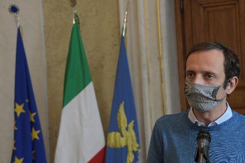 Il governatore Massimiliano Fedriga