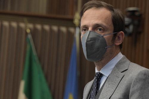Il governatore del Friuli Venezia Giulia Massimiliano Fedriga in una foto d'archivio