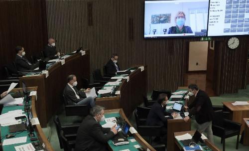 L'intervento, in modalità telematica, dell'assessore Barbara Zilli oggi in Consiglio regionale.