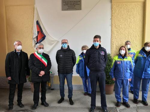 Il vicegovernatore con delega alla Protezione civile del Friuli Venezia Giulia, Riccardo Riccardi, nella sede del gruppo comunale di Protezione civile a Udine.