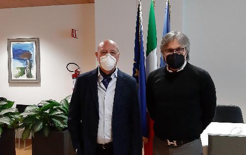L'assessore regionale alle Attività produttive, Sergio Emidio Bini (a destra) con il presidente del Cosef, Claudio Gottardo
