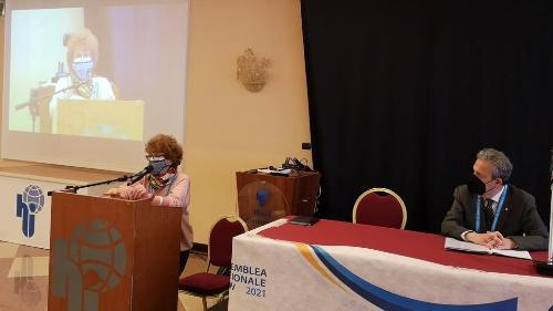 L'assessore regionale allo Sport Tiziana Gibelli interviene all'assemblea Federvolley a Crvignano