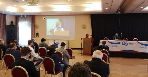 L'assessore regionale allo Sport Tiziana Gibelli interviene all'assemblea Federvolley a Cervignano