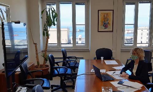 L'assessore regionale alle Finanze Barbara Zilli interviene in videoconferenza a inaugurazione Urban center a Trieste