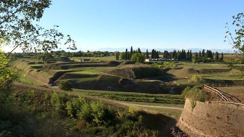 Veduta dell'area dei bastioni di Palmanova