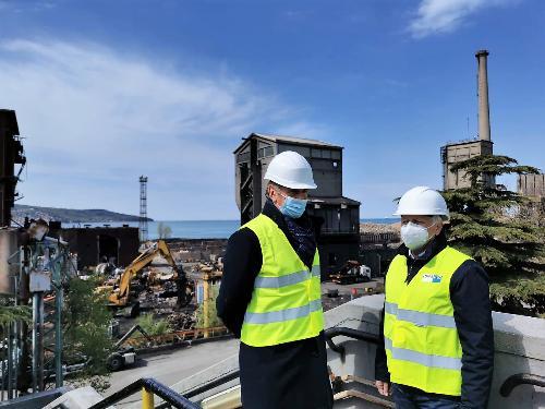 L'assessore regionale alla Difesa dell'Ambiente Fabio Scoccimarro con il direttore di Arpa Fvg Stelio Vatta