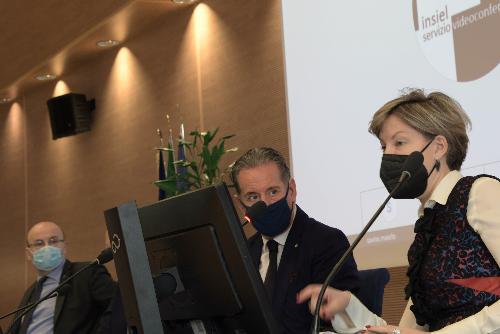 Una fase dell'incontro svoltosi oggi nell'Auditorium della sede della Regione a Udine.