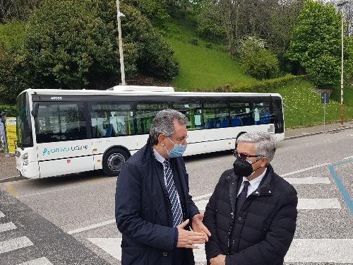 L'assessore regionale Pizzimenti insieme al sindaco di Udine Fontanini.