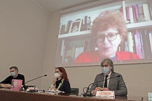L'assessore regionale alla Cultura Tiziana Gibelli in videocollegamento alla presentazione di Its 2021
