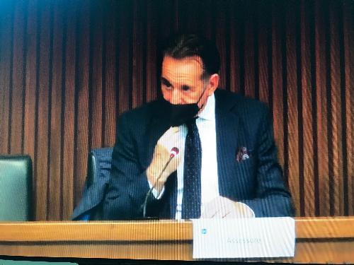 L'assessore alla Difesa dell'Ambiente ed energia, Fabio Scoccimarro, nel corso dell'audizione in IV Commissione consiliare.