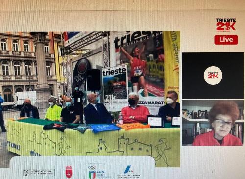 L'assessore regionale allo Sport, Tiziana Gibelli, intervenuta in videoconferenza alla presentazione della nuova Bavisela Trieste 21K