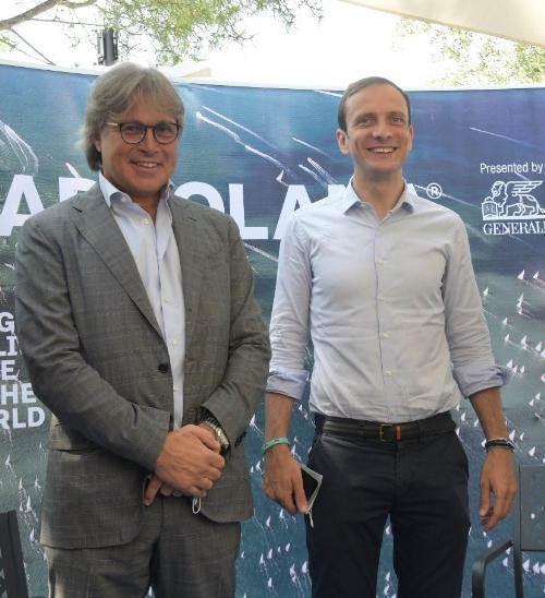 Una foto d'archivio ritrae il governatore del Friuli Venezia Giulia Massimiliano Fedriga e l'assessore regionale alle Attività produttive e Turismo Sergio Emidio Bini